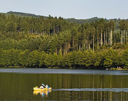 canoeing at Lac des Sapins